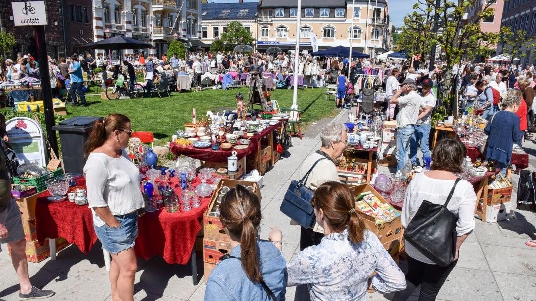 Bruktmarked i Byparken